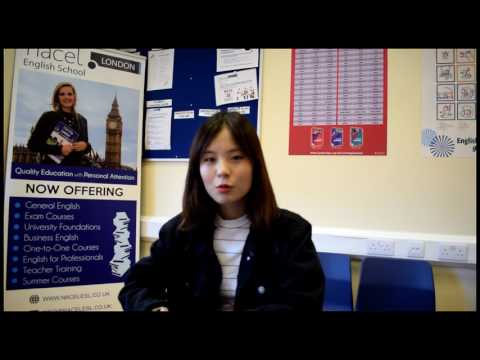 Student's Review in Korean of Nacel English School London