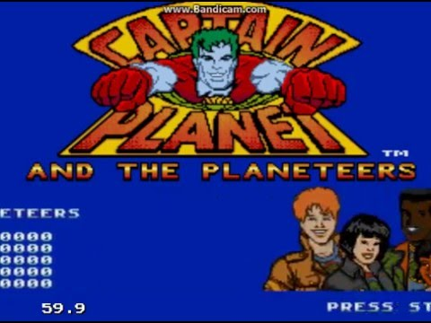Captain Planet and the Planeteers (Sega Mega Drive / Sega Genesis) – Ravenking's Gameplay