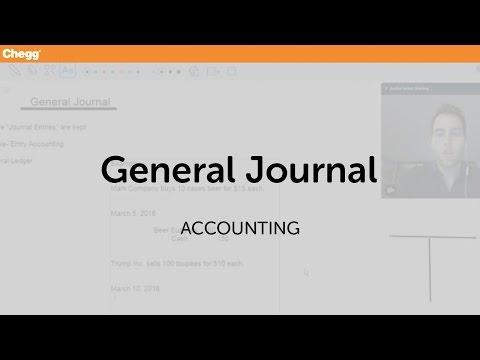 Definition of General Journal  Cheggcom