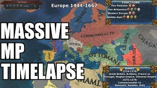 [EU4] Massive MP Timelapse - GC6 - Factions and Wars Included. 1444-1743
