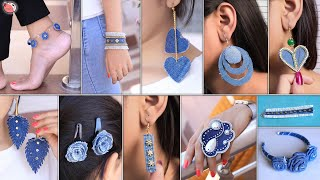 11 Fashion Jewelry Making From Old Jeans | Reuse Of Old Waste Clothes
