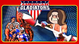 POUNDING some huge muscly dudes!! - American Gladiators