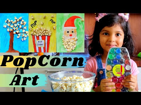 Popcorn Art for Kids | Creative Painting using Popcorn