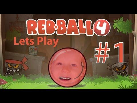 Играем в мультяшную игру Ред Балл 4 прохождение Лец Плаи РЕД БАЛЛ 4 Кидс гаминг