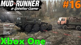 SpinTires Mud Runner: Xbox One Let's Play! Part 16 | OUT OF FUEL! 8x8 Lumber Truck RESCUE!