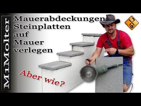 Steinplatte auf einen Sockel oder eine Mauer verlegen - Tipps von M1Molter