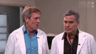 Хью Лори и Джордж Клуни на шоу Джимми Киммела (озвучка Hudson)