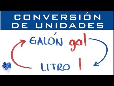 Convertir galón a litro | conversión de unidades