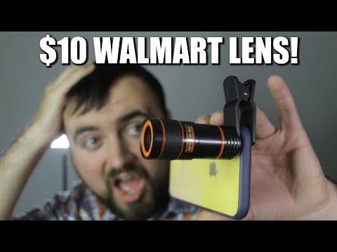 $10 Walmart iPhone Camera Lens Review! 8X telephoto ZOOM lens