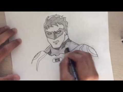 How I Draw Green Lantern / how to draw green lantern
