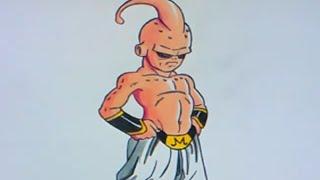 Cómo dibujar a Kid Buu (Dragon Ball Z) - How to draw Kid Buu (Majin Buu)