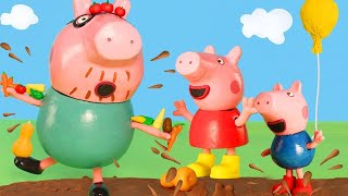 Peppa Pig Official Channel   Peppa Pig Stop Motion: Shopping at the Vegetable Market with Peppa Pig