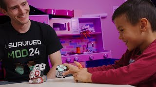 Introducing my kids to a TINY ROBOT! - Anki Cozmo Showcase