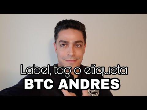 Coloca tu nombre, tag o label en tu dirección pública bitcoin