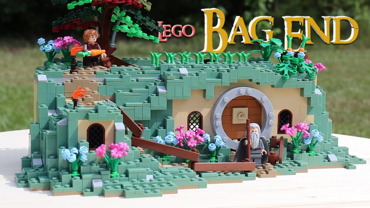 LEGO Bag End Hobbit Hole From the Lord of the Rings! // Custom LEGO MOC