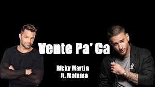 Descargar canciones de Ricky Martin ft. Maluma-VENTE PA CA MP3 gratis