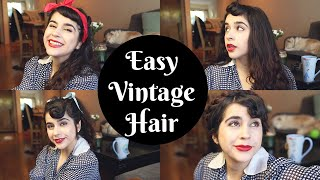 4+ Easy Vintage Hairstyles For Long Hair & Lazy Gals