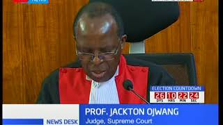 Justice Ojwang' outlines his being on the minority side