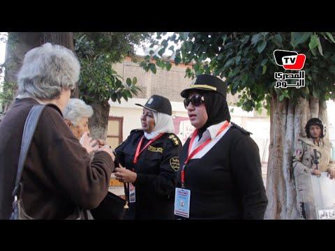 الانتخابات البرلمانية| الشرطة نسائية تؤمن لجان السيدات في الساعات الأولي لجولة الإعادة