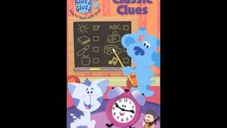Opening To Blue's Clues: Classic Clues 2004 VHS