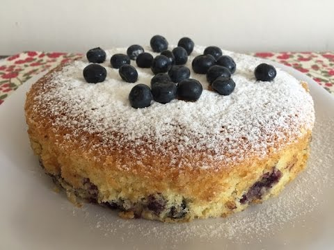 Video BLUEBERRY CAKE WITH  ALMOND FLOUR