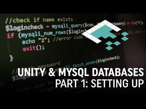 Unity & MySQL Databases, Part 1: Setting Up