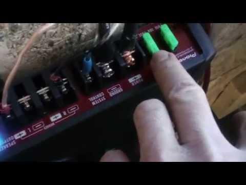 Power light blinking on my amp