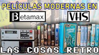 PELÍCULAS modernas en VHS y Beta 📼 Cómo GRABAR en CINTA de vídeo