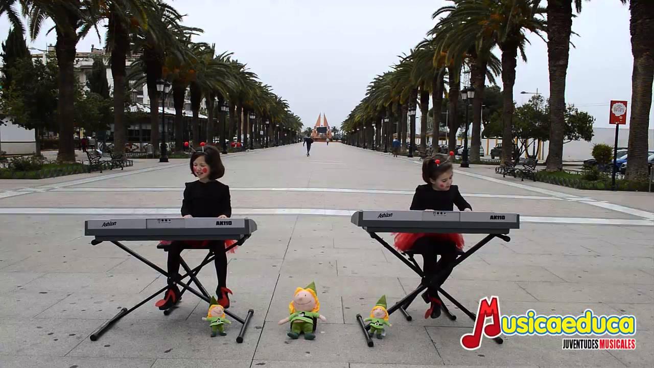 Sube la hormiguita - Grupo de alumnos de  Mi teclado 2  - Sinfonía  Musical -  Bailén