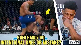 UFC Pros react to Greg Hardy's íllegal knee DQ; Dana on Cowboy vs Conor; TJ on Holloway; Cejudo