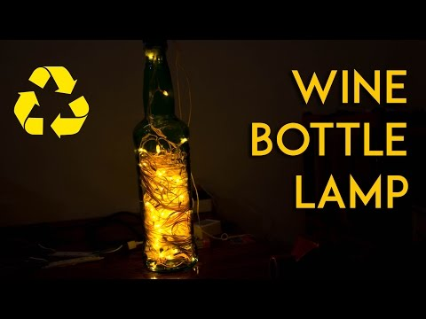How to make a Wine bottle Night Lamp without Drilling