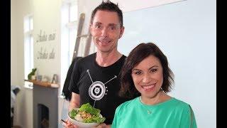 Youtube thumbnail for Vegan Creamy Fettuccini and Vegan Thai Tofu Laab by Aaron Brunet