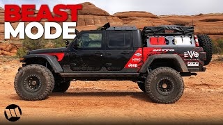 Jeep Gladiator Truck Overlander on 40 Tires by EVO Off Road Testing at Moab Easter Jeep Safari