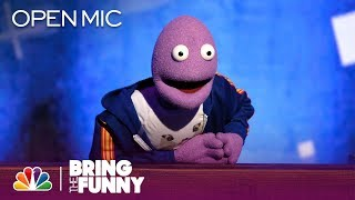 Puppet Randy Feltface Performs in the Open Mic Round - Bring The Funny (Open Mic)