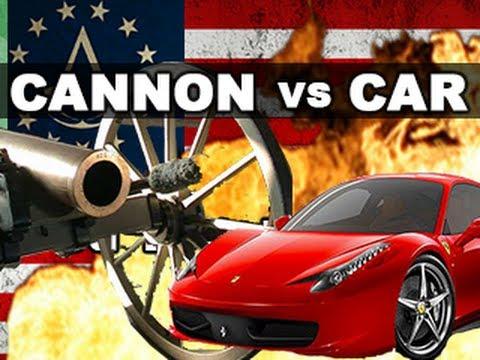 Watch This Cannonball Tear Through A Modern Car