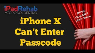Can't Enter Passcode on iPhone X? Apple said no? Hold my beer.