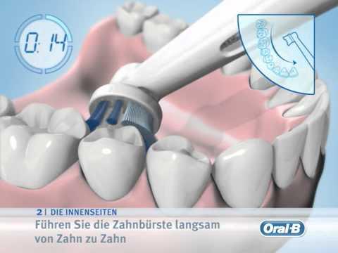 Braun Oral B Video Putzanleitung elektrische Zahnbuersten