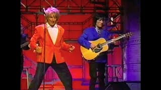 Rod Stewart & Ron Wood on Late Night, April 29, 1993 (full, stereo)