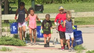 5-year-old leads clean-up effort in New London