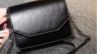 Распаковка - маленькая черная сумка-кроссбоди