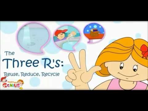 3 R s - Reduce ,Reuse , Re-cycle - Pollution -Video Lesson -  by www.makemegenius.com