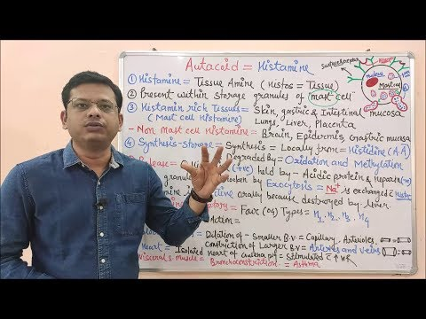 Histamine (Part 01)- Introduction and Pharmacological and Physiological Action in Hindi