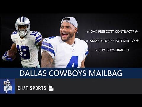 Dallas Cowboys: Dak Prescott Contract, Amari Cooper Extension & 2019 NFL Draft   Mailbag