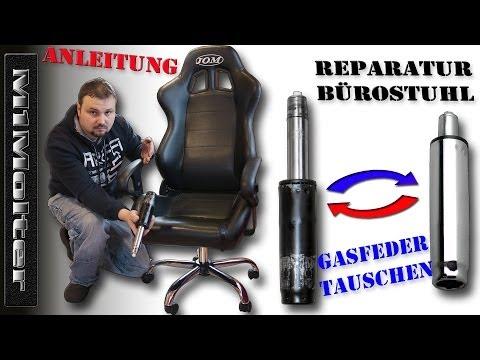 Gasdruckfedern beim Bürostuhl reparieren wechseln - JOM Racing Bürostuhl von M1Molter