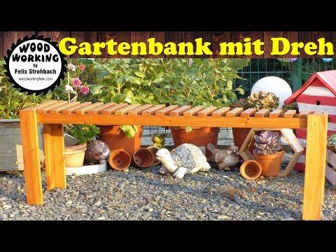 Gartenbank selber bauen / Probleme mit verdrehten Holz?