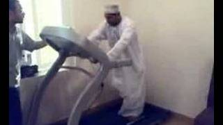 Arab Man On Treadmill