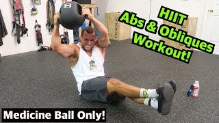 Intense Tabata Medicine Ball Abs & Obliques Workout (HIIT) by Anabolic Aliens