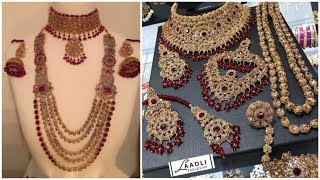 66 Stunning Pearl Stones Gold Weddings Bridal Jewellery Sets