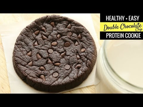 HEALTHY Double Chocolate Chip Cookies Recipe From Scratch - GLUTEN FREE, LOW CARB, HIGH PROTEIN