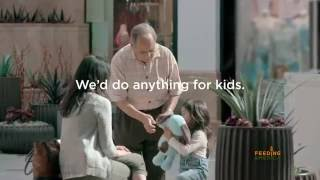 Feeding America 'We'd do anything for kids' child hunger PSA